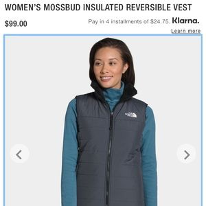 NWT - North Face Mossbud Insulated Reversible Vest